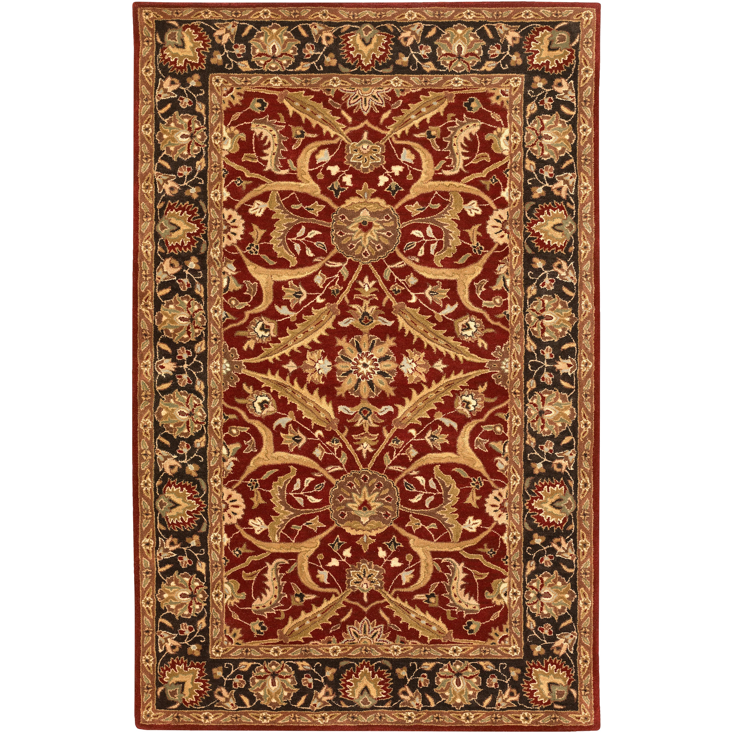 Hand-tufted Ancient Treasures Semi-worsted New Zealand Wool Rug (9' x 13')