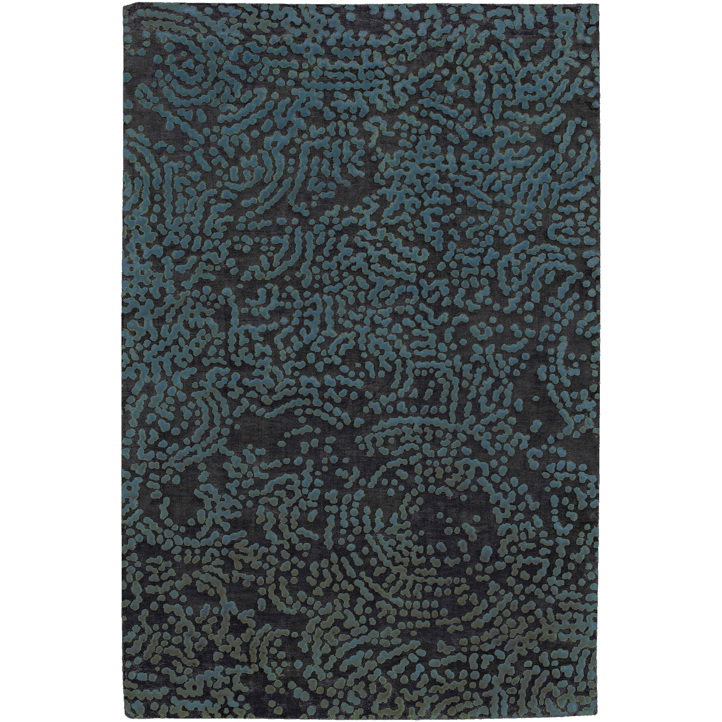 Hand-knotted Elkton Abstract Design Wool Rug (9' x 13')