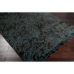 Hand-knotted Elkton Abstract Design Wool Rug (9' x 13') - Thumbnail 2