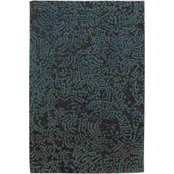 Hand-knotted Elkton Abstract Design Wool Area Rug - 9' x 13' - Thumbnail 0