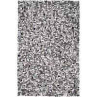 Hand-woven Canistota New Zealand Felted Wool Stone Look Textured Area Rug (9' x 13')