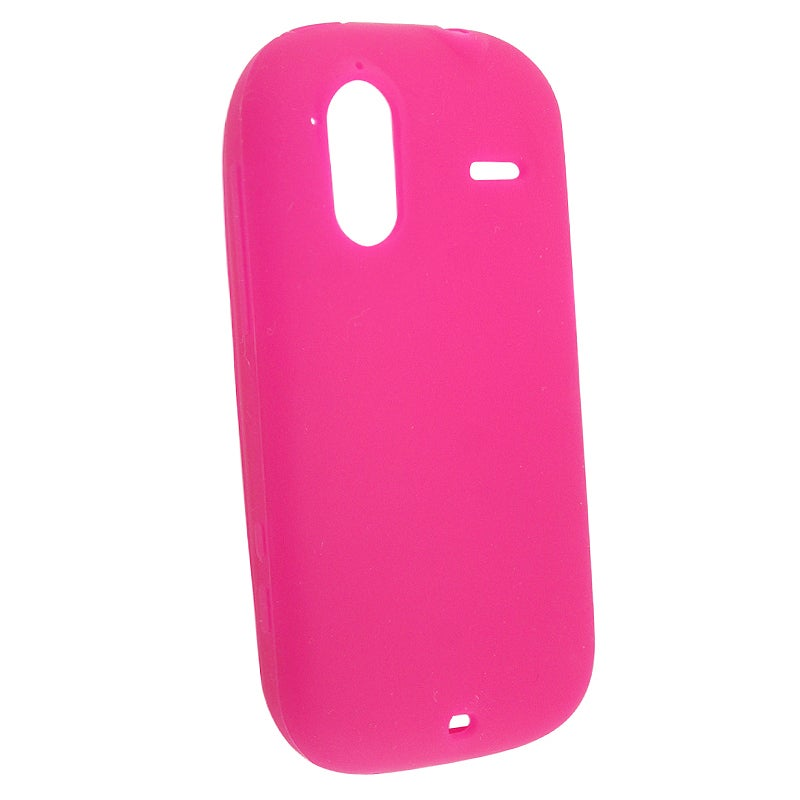 INSTEN Hot Pink Soft Silicone Skin Phone Case Cover for HTC Amaze 4G