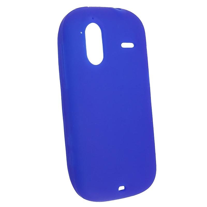 Blue Silicone Skin Case for HTC Amaze 4G