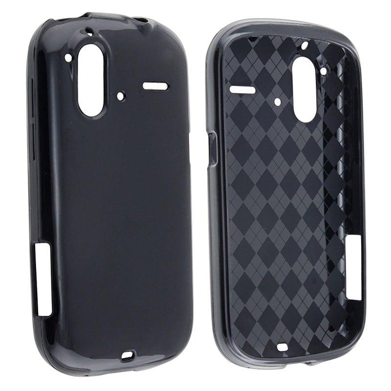Black TPU Rubber Skin Case for HTC Amaze 4G