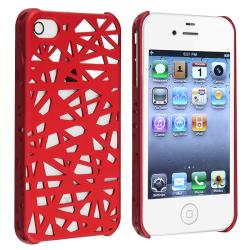 Red Bird Nest Rear Snap-on Case for Apple iPhone 4/ 4S - Thumbnail 1