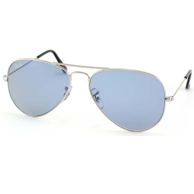 Ray-Ban Unisex RB3044 Silver Small Aviator Sunglasses