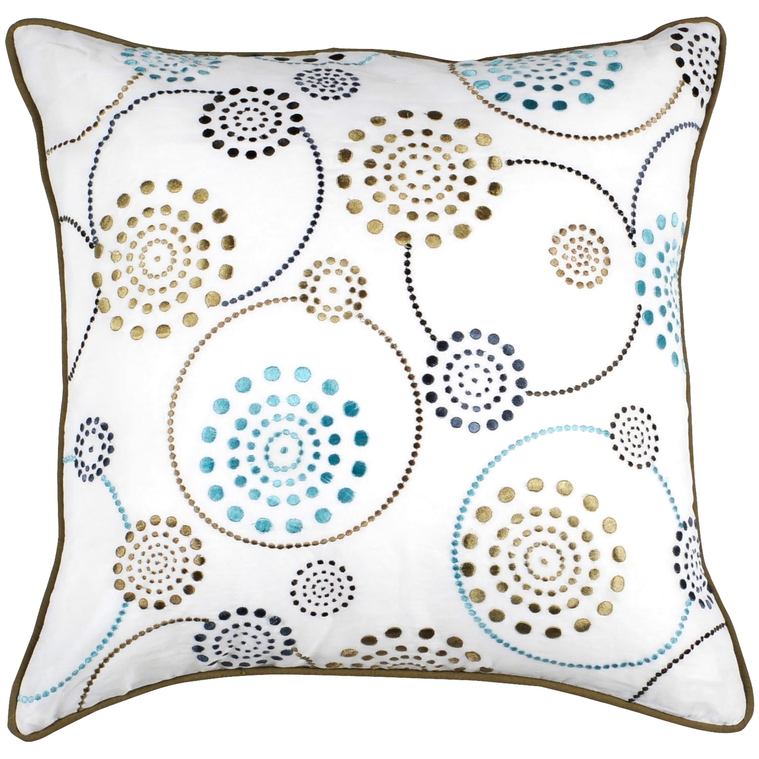 Circles 18x18 Multicolored Down Decor Pillow