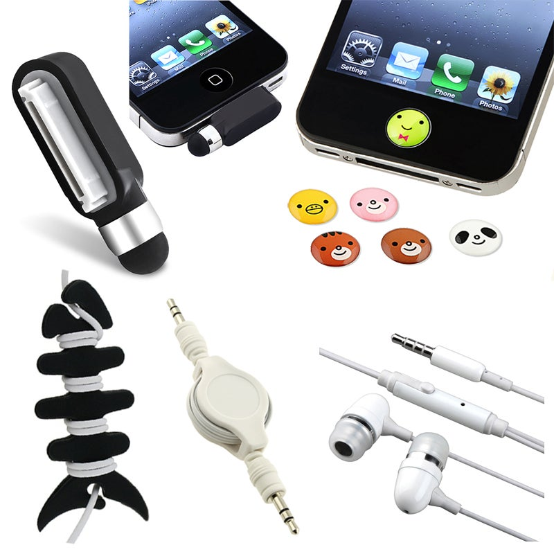 Headset/ Wrap/ Cable/ Home Sticker/ Stylus for Apple iPhone/ iPod