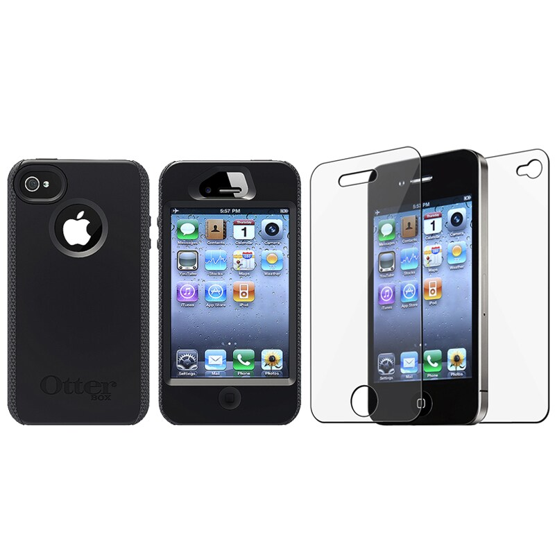 new styles 51272 3f849 OtterBox Black Impact Case/ Screen Protector for Apple iPhone 4S