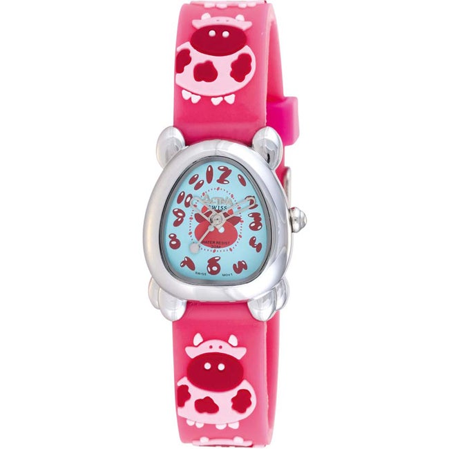 Activa Juniors Coral Rubber With Cow Design Watch