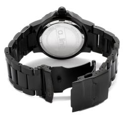 a_line Women's 'Marina' Black Ion-Plated Stainless Steel Watch