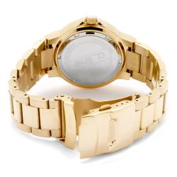 a_line Women's 'Marina' Goldtone Ion-Plated Stainless Steel Watch - Thumbnail 1