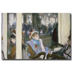 Edgar Degas 'Women on a Cafe Terrace 1877' Canvas Art