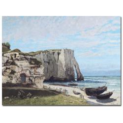 Gustave Courbet 'The Cliffes at Etretat 1870' Canvas Art - Thumbnail 0