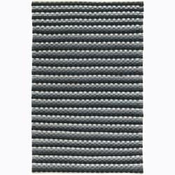 Artist's Loom Hand-woven Contemporary Stripes Wool Rug (7'9x10'6) - Thumbnail 0