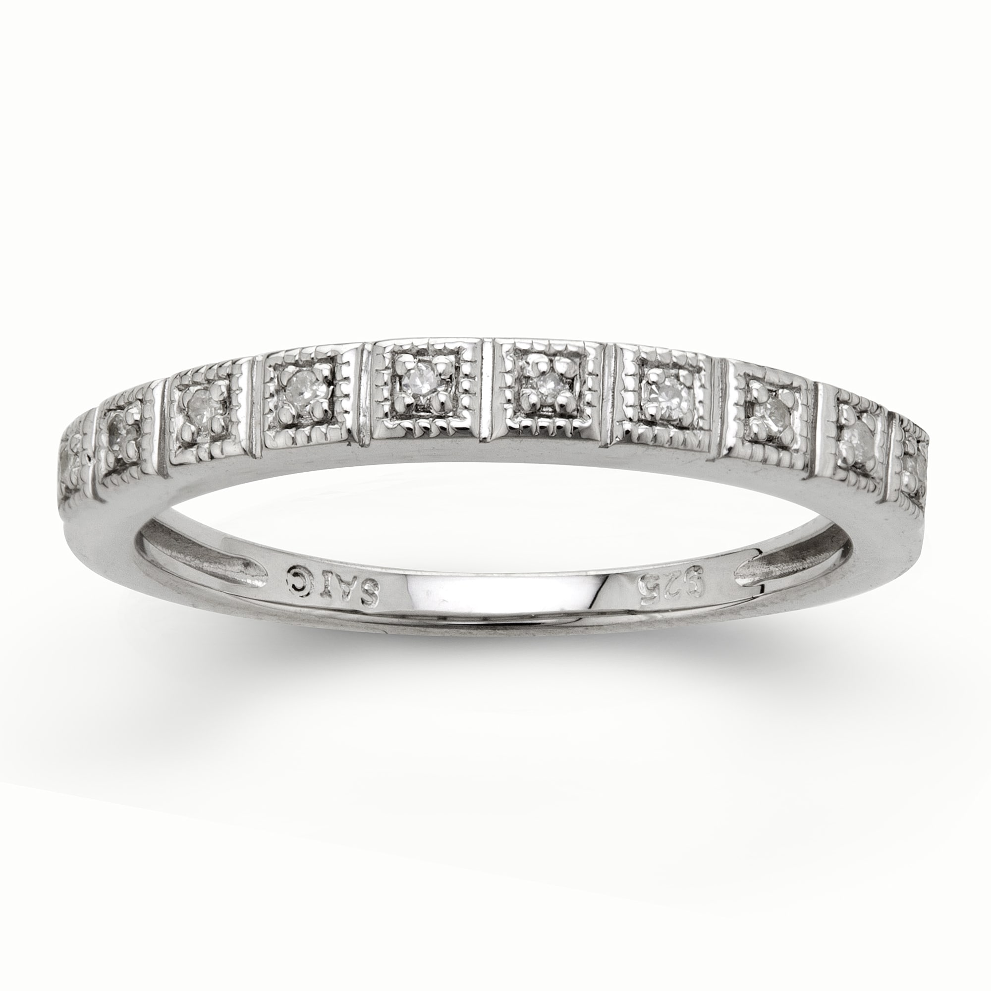 Sterling Silver Diamond Accent Anniversary Band