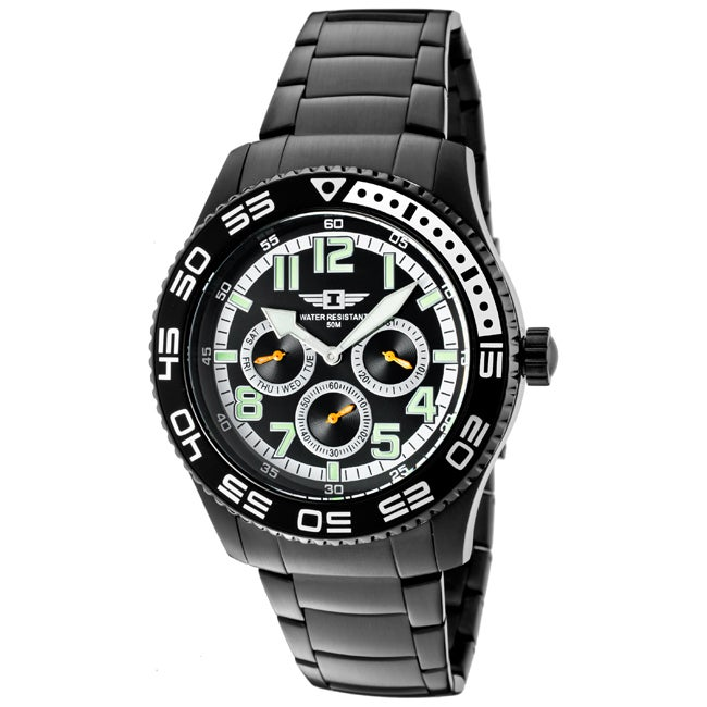 I by Invicta Men's Black Ion-Plated Stainless Steel Watch