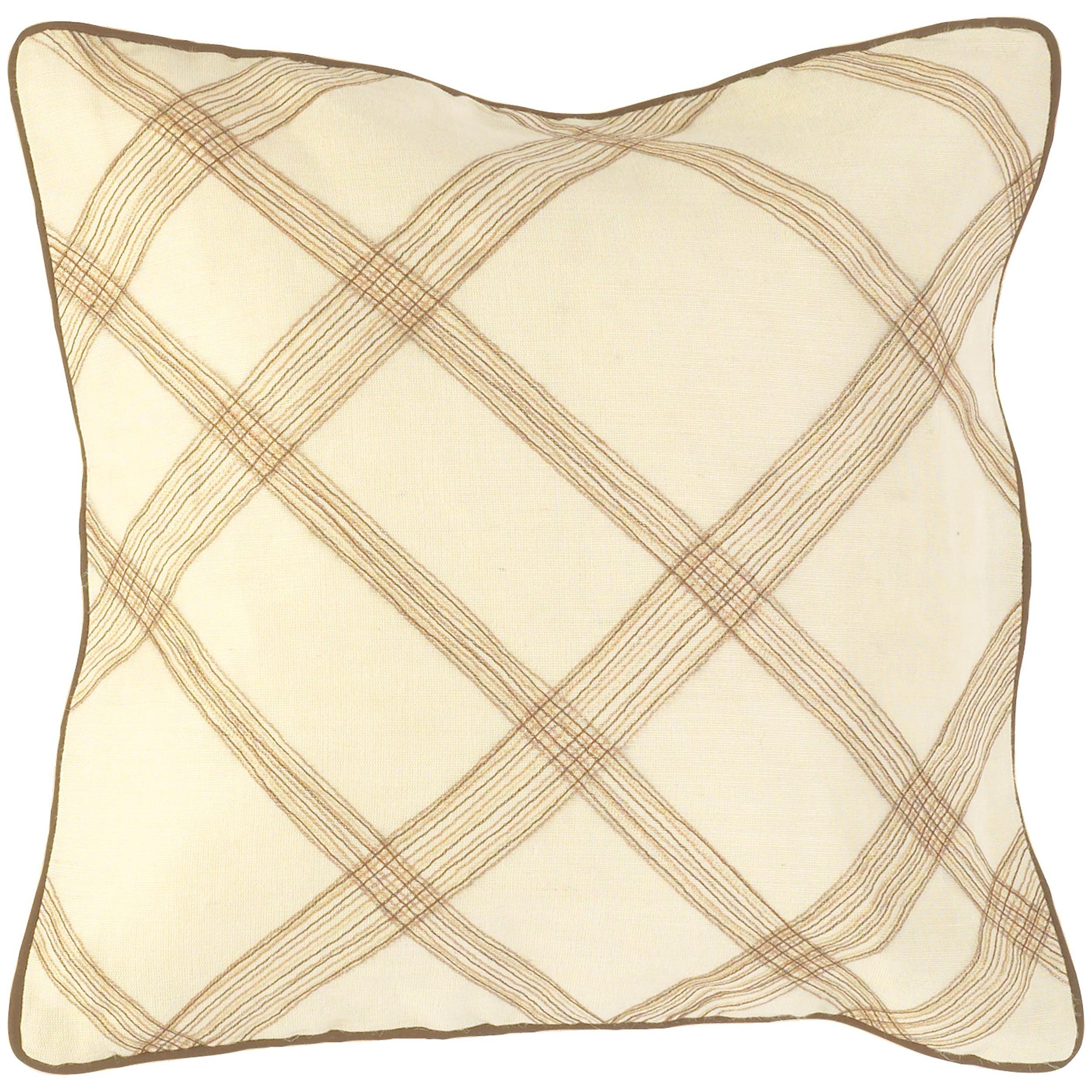 Cream 18-inch Down Decorative Pillow