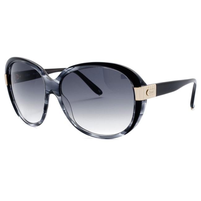 Chloe Women's 'Sally' Grey Horn/ Black Fashion Sunglasses