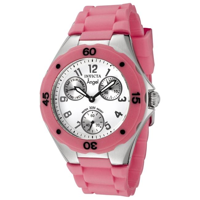 Invicta Women's 'Angel' Pink Silicon Watch