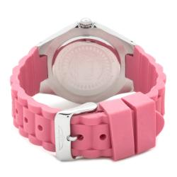 Invicta Women's 'Angel' Pink Silicon Watch - Thumbnail 1