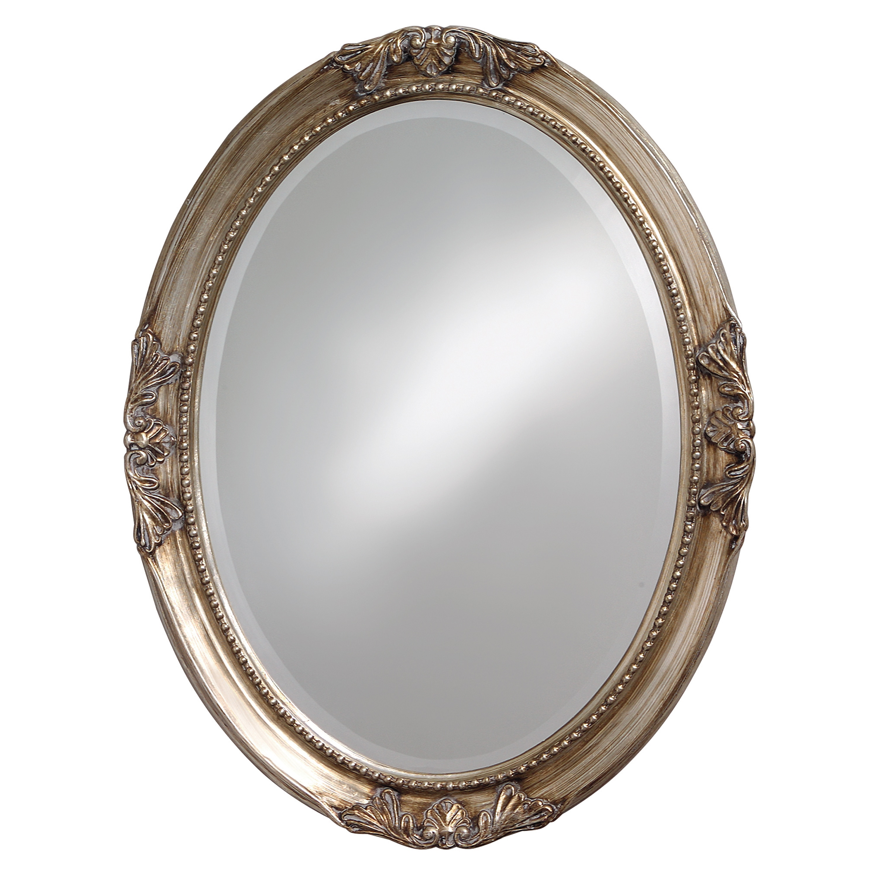 Lisette Silver Wood Oval Mirror Free Shipping Today