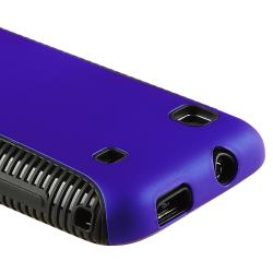 Black TPU/ Blue Hybrid Case for Samsung i9000 Galaxy S/ T959 Vibrant - Thumbnail 1