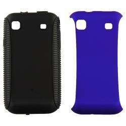 Black TPU/ Blue Hybrid Case for Samsung i9000 Galaxy S/ T959 Vibrant - Thumbnail 2