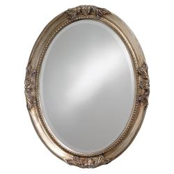 Lisette Silver Wood Oval Mirror