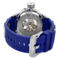 Invicta Men's 'Russian Diver' Blue Polyurethane Watch