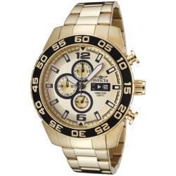 Invicta Men's 'Invicta II' 18k Goldplated Stainless Steel Watch