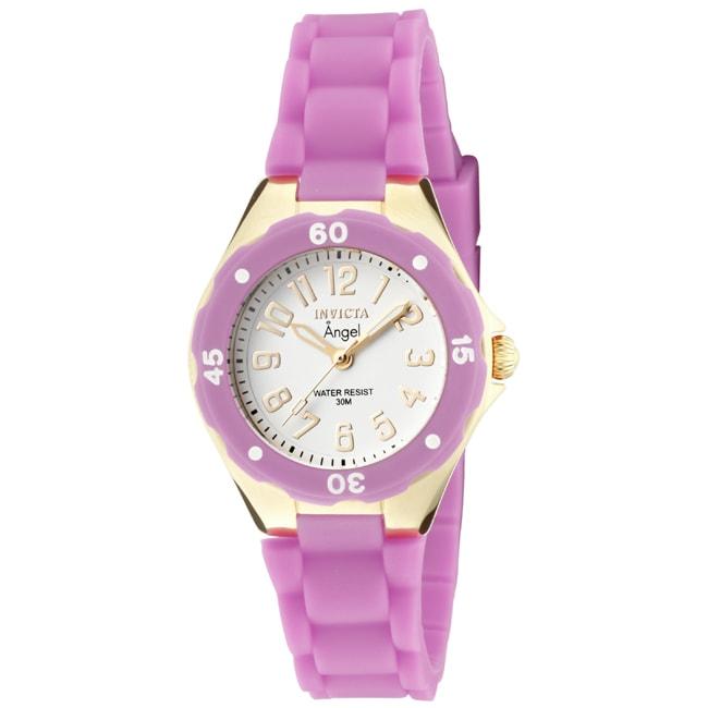 Invicta Women's 'Angel' Light Purple Polyurethane Watch