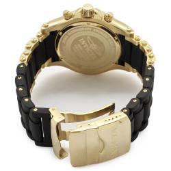 Invicta Men's 'Sea Spider' 18K Goldplated& Black Polyurethane Watch - Thumbnail 1