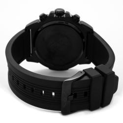 Invicta Men's 'Pro Diver' Black Polyurethane Watch - Thumbnail 1