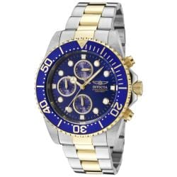 Invicta Men's 1773 'Pro Diver' Chronograph Gold-Tone and Silver Stainless Steel Watch