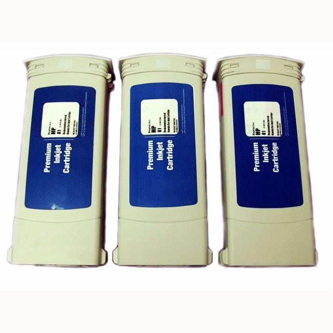 HP 81 Light Magenta Ink Cartridge (Pack of 3) (Remanufactured)