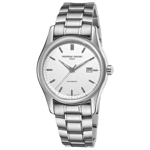 Frederique Constant Men's 'Index' Silver Dial Watch