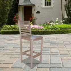 Renaissance Outdoor Hand-Scraped Hardwood Bar Chair