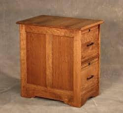 Cherry Wood 2 Drawer File Cabinet