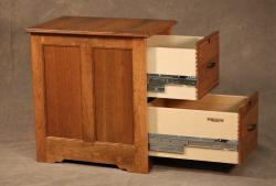 Cherry Wood Filing Cabinets