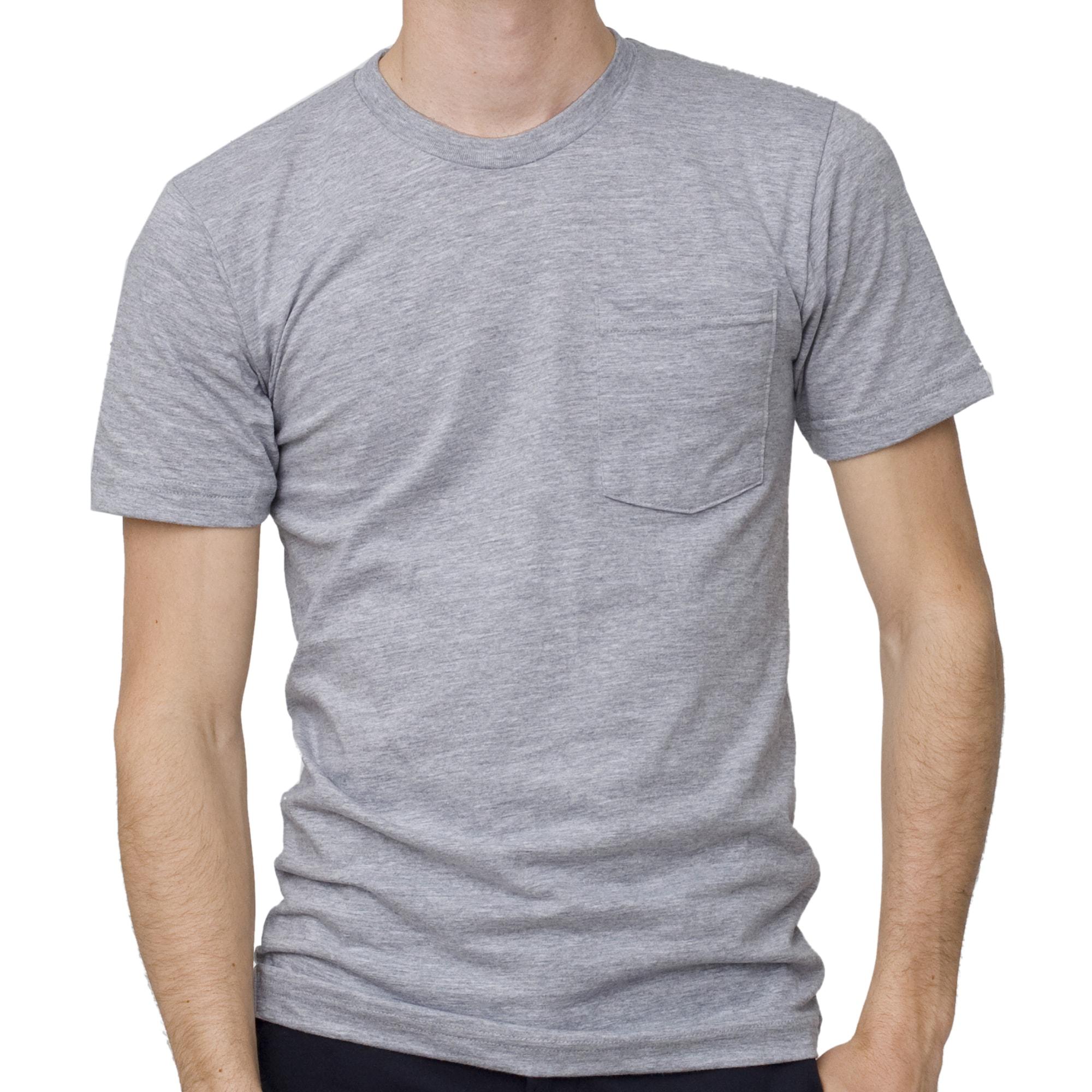 American apparel men 39 s grey pocket t shirt 3xl free for Mens 3xl t shirts