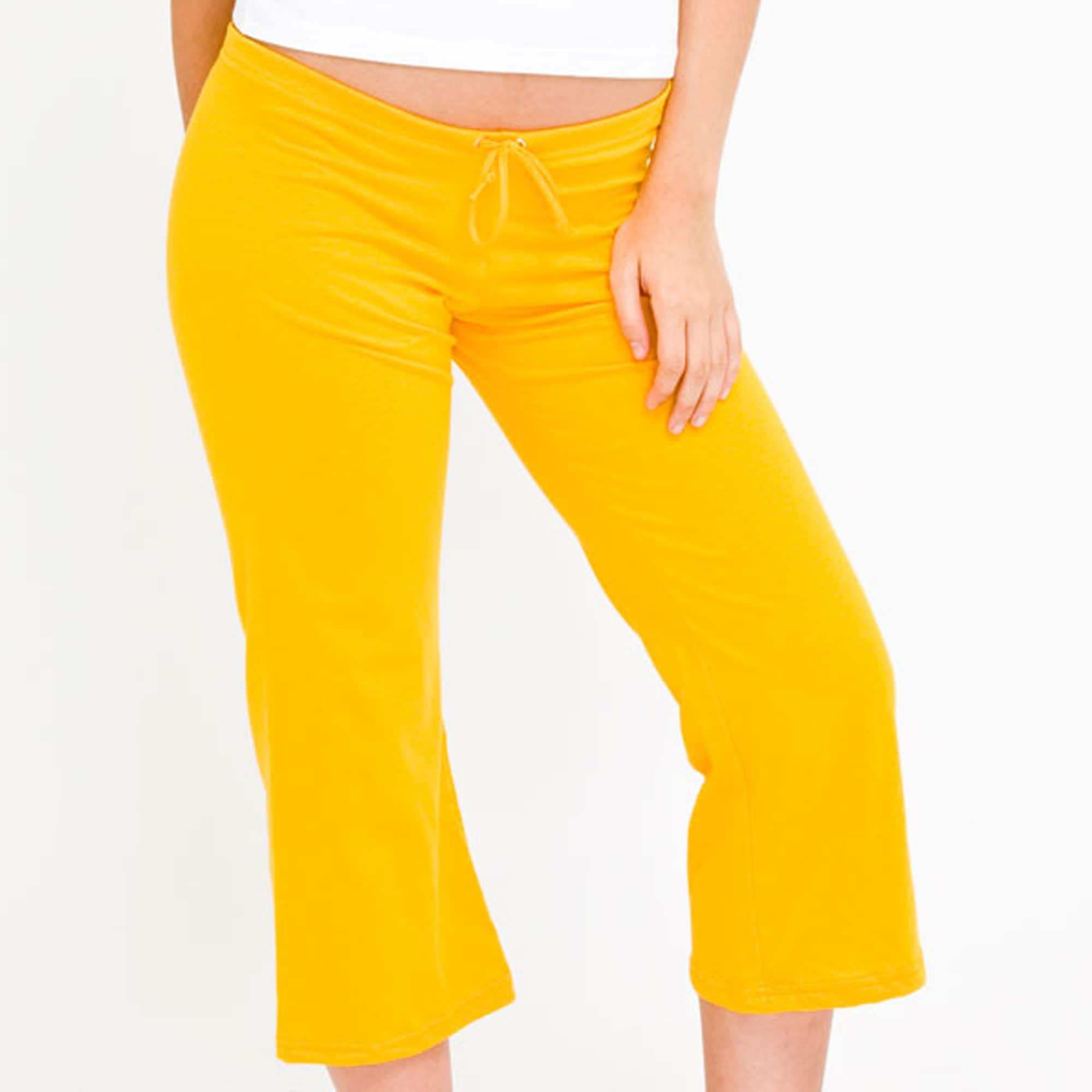 American Apparel Women's Fine Jersey Gold Capri Pants - 14039386 ...