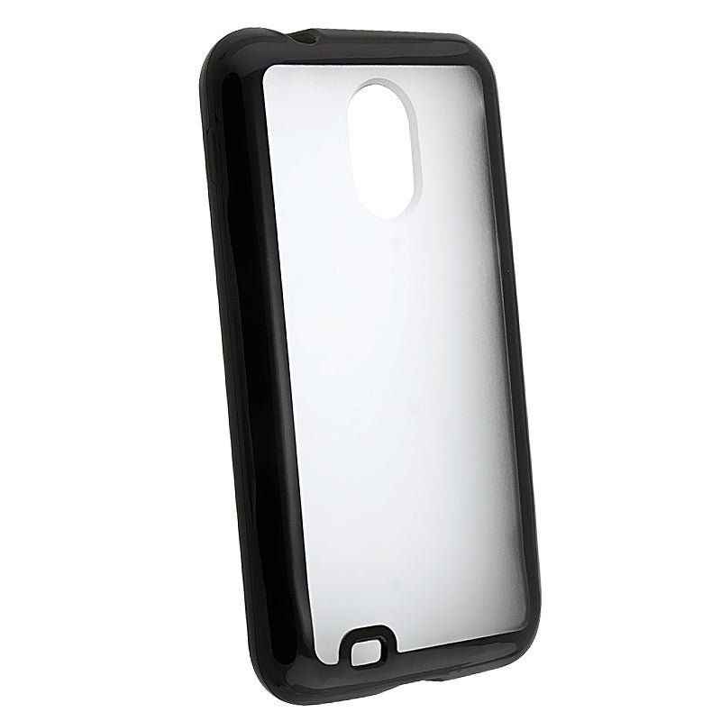 Clear w/ Black Trim TPU Rubber Case for Samsung Epic Touch 4G D710