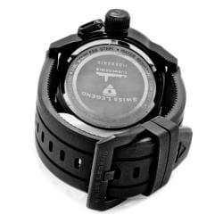 Swiss Legend Men's 'Submersible' Black Silicon Watch