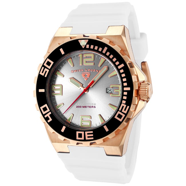 Swiss Legend Men's 'Expedition' White Silicon Watch