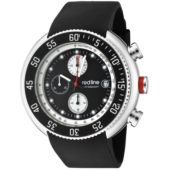 Red Line Men's 'Driver' Black Chronograph Watch