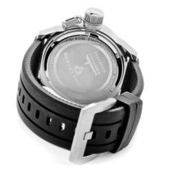 Swiss Legend Men's 'Submersible' Black Silicon Watch - Thumbnail 1