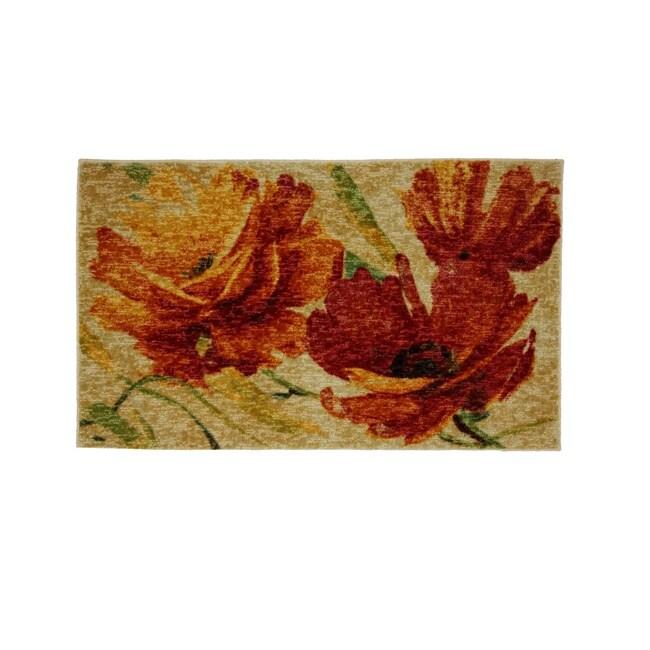 Flamboyant Orange Multicolor Rug (1'8 x 2'10)