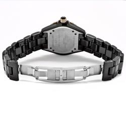 Lucien Piccard Italy Women's 'Celano' Black Ceramic and Stainless Steel Watch - Thumbnail 1