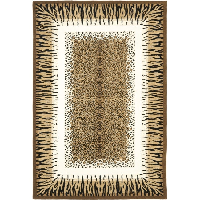 Safavieh Handmade Safari Leopard Print Wool Rug - 10' x 14'
